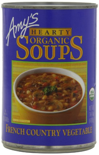 Amy's Hearty Organic Soups, French Country Vegetable, 14.4 Ounce (Pack of - Soup Organic French