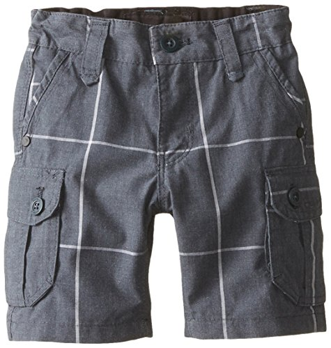 Hurley Baby Boys' Plaid Cargo Short, Classic Charcoal, 12 Months