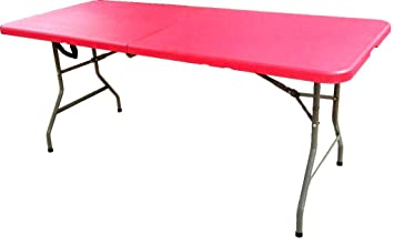 Superior HEAVY DUTY RED FOLDING TRESTLE TABLE 6FT CAMPING PICNIC BANQUET PARTY  GARDEN TABLES: Amazon.co.uk: Kitchen U0026 Home