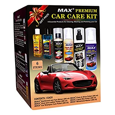 MAX Premium Car Care Kit (Pack of 6 Items - 200 ML Each and Foam 4 Pieces) 8