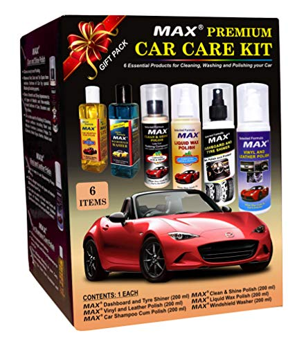 MAX Premium Car Care Kit (Pack of 6 Items - 200 ML Each and Foam 4 Pieces) 1