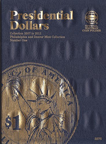2007-2011 PRESIDENTIAL DOLLARS P&D WHITMAN TRI-FOLD No 2275 48 coin slots COIN; Album, Binder, Board, Book, Card, Collection, Folder, Holder, Page, Portfolio, Publication, Set, Volume
