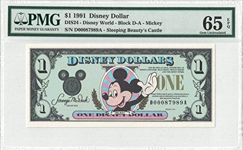 Disney Dollar 1991 $1 Mickey D00087989A PMG 65 EPQ Gem (Pmg 65 Gem)