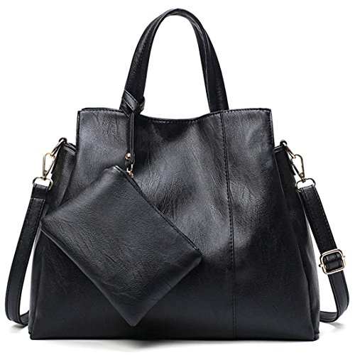 ~ RELIC Shoulder Top PURPLE Hobo Crossbody Black Vegan Handle Bag Soft Leather Handbag Tote Ladies wFvwS0xdAq