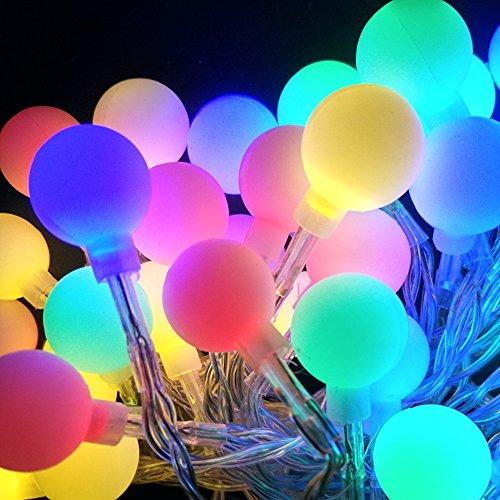 Zhuhai ATZ Technologies Co., LTD Creative Globe Ball String Light 6.6feet/2m 20leds Starry Light for Gardens Home Wedding Christmas Party (Multi-Color) and etc. AA Battery-powered