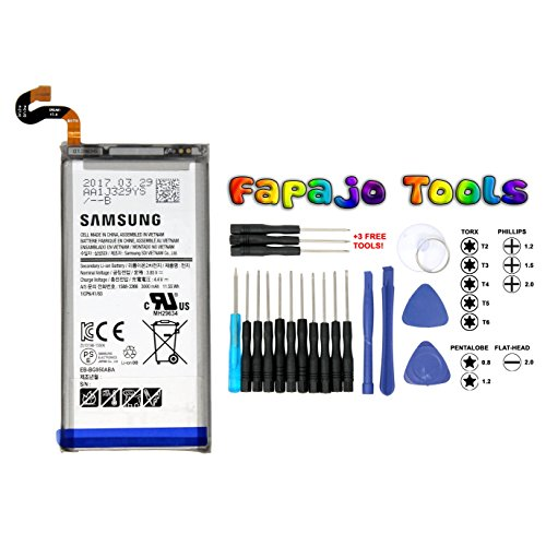 Oem Retail Package - NEW Samsung EB-BG950ABA EB-BG950ABE Battery 3000mAh for Samsung Galaxy S8 SM-G950 (Fapajo Toolkit Included) - 100% OEM - in Non-retail Package (USA Seller)