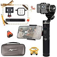 FeiyuTech G6 Splash Proof Controllable Action Camera Handheld Gimbal, WIFI & Bluetooth connect mode, OLED indicator, for GoPro Hero 6/5/4/3/Session, Sony RX0, Yi 4K, AEE Action camera