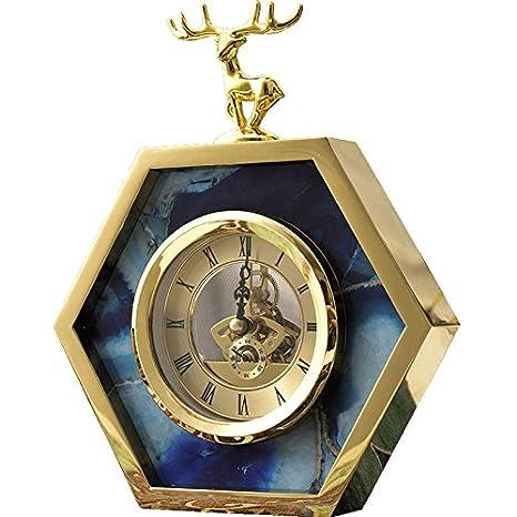 OLILEIO simple y moderna sala de ornamentos, Unión relojes antiguos, péndulo péndulo, reloj de péndulo, Metal reloj, reloj de mesa, reloj electrónico.