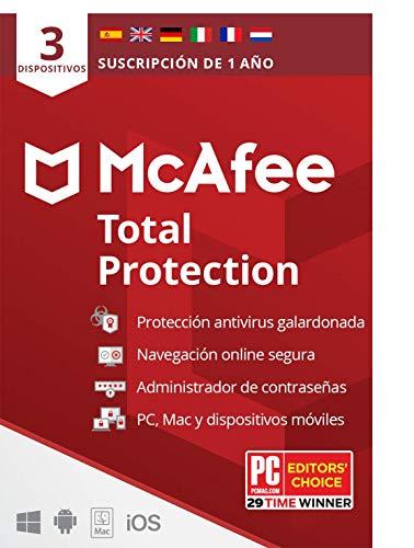 McAfee Total protection 3 dispositivo