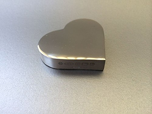 Sterling Silver Heart Shaped Paperweight