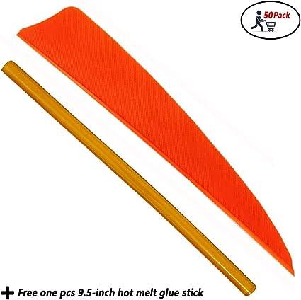 WEREWOLVES Pfeilfedern 3 4 5 Truthahnfedernpfeil Fletches Feather Peltate Rechtsfl/ügel Drop Shape Naturschaufeln f/ür DIY Arrows Fletches