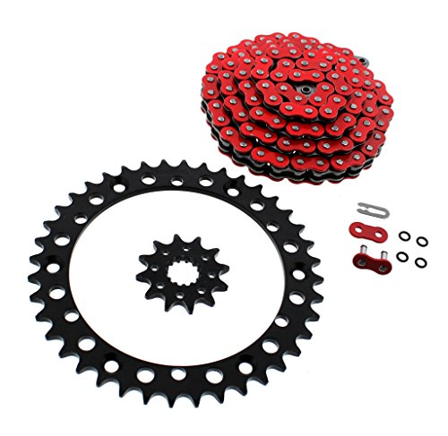 2001-2005 fits Yamaha YFM660 660 Raptor Red O-Ring Chain & Black Sprockets 12/40 92L (660 Raptor And 2003 Chain)