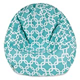 Product review for Majestic Home Goods Classic Bean Bag Chair - Links Giant Classic Bean Bags for Small Adults and Kids (28 x 28 x 22 Inches) (Teal Blue)