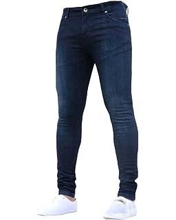 Herren Ripped Jeans Hose Stretch Leichte Biker Jeanshose Slim Fit ... 1acfc91892
