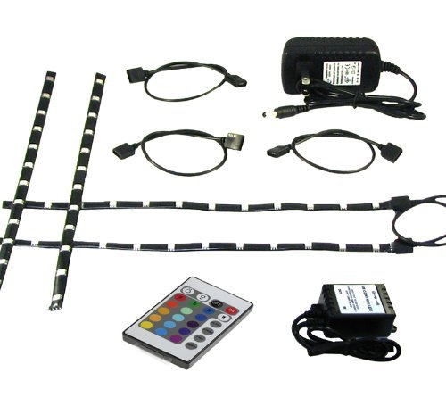 eclipse led light strip accent kit 4 x pre cut 12 inch. Black Bedroom Furniture Sets. Home Design Ideas