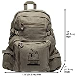 Snoopy Dog House Heavyweight Canvas Travel Backpack Bag, Olive & Black (Large)