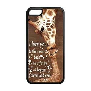 iStyle Zone- Giraffe Snap-on TPU Rubber Coated Case Cover for iPhone 5C