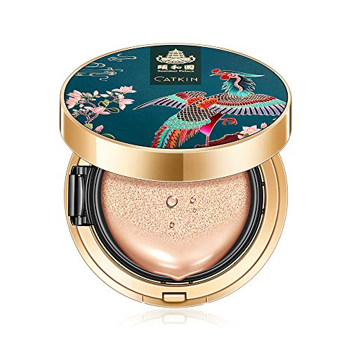 CATKIN BB Cream Air Cushion Foundation Moisture Natural Cover Concealer + Free Refill Medium/Light 0.46 Ounce (Natural(Medium))