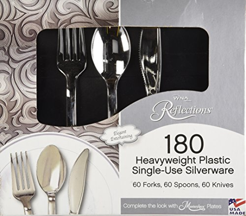 "Reflections Heavyweight""Looks Like Silver"" Disposable Flatware (180 pcs)"