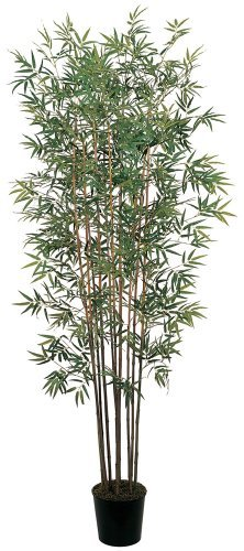 Nearly Natural 5022 Bamboo Silk Tree, 6-Feet, Green Black Bamboo Tree