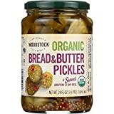 Woodstock Pickles - Organic - Bread and Butter - Sweet - 24 oz - case of 6