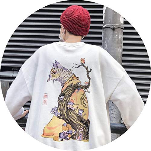Embroidery Funny Cat Sweatshirt 2019 Harajuku Print O-Neck