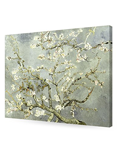 DECORARTS- Silver Almond Blossom Tree, Vincent Van Gogh Art Reproduction, Giclee Print on 100% Cotton Canvas for Home Decor and Wall Decor 24x30 x1.5