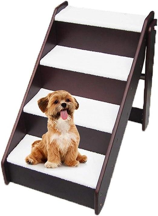 DIAOSI Escalera escalonada Escalera para Perros Escalera para Perros Escalera de Madera Escalera de Cama para Entrenamiento de Mascotas Área de Juegos recreativos: Amazon.es: Productos para mascotas