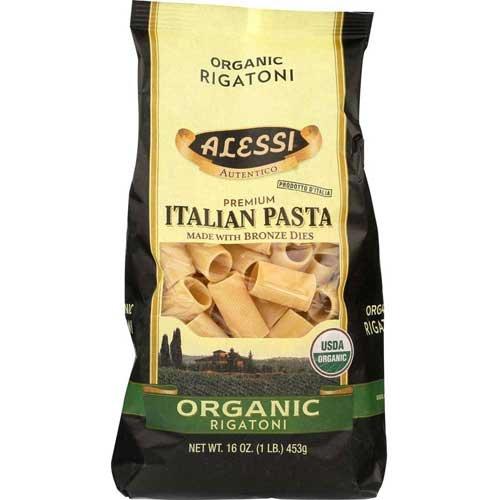 Alessi Organic Rigatoni Pasta, 16 Ounce - 12 per case.