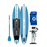 """iROCKER Inflatable Sport Stand up Paddle Board 11' Long 30"""" Wide 6"""" Thick SUP Package …"""