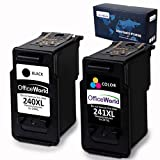 Office World Remanufactured Ink Cartridge Replacement for Canon PG-240XL 240 XL CL-241XL 241XL for Canon Pixma MG3620 MX472 MX452 MG3220 MG3520 MG2220 MX532 MX392 MX432 MX512 (1 Black + 1 Tri-Color)