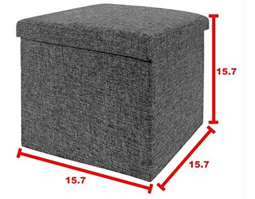"Seville Classics Foldable Storage Ottoman, 15.7"" W x 15.7"