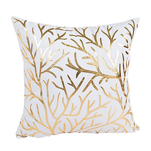 GOVOW Pillows for Sleeping Down Feather Case Gold Foil Sofa Waist Throw Cushion Cover Home -