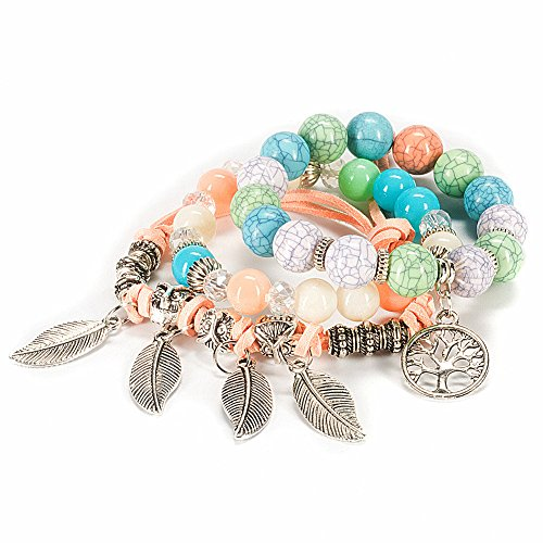 LOVE IT!!This Multilayer Hand Beaded Stretch Bracelet is so pretty. Its just the right size. It comes nicely packaged in a set of three.