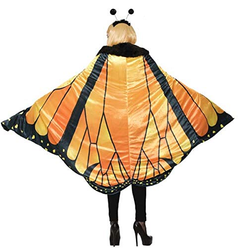 Forum 78388_STD-As-Standard Women's Monarch Butterfly Cape Adult Costume, Standard, Pack of 1 -