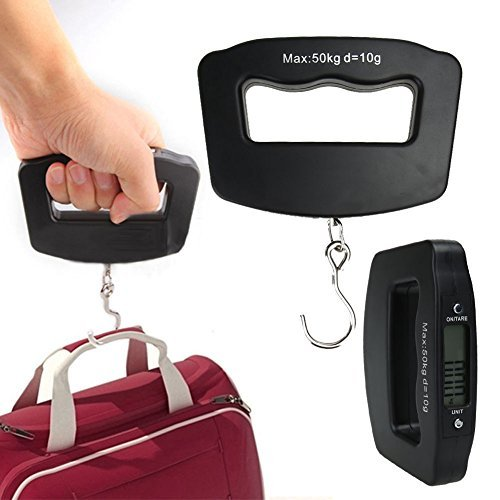 Amazon.com: LCD Digital Luggage Scale Portable Hanging Weight Electronic Escala Bascula: Kitchen & Dining