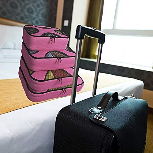 2e47b78998 Bag 4 Borsa Cubi Griglia Viaggi Rosered Ghh Di Nylon Travel Lavanderia  Imballaggio Storage black Con ...