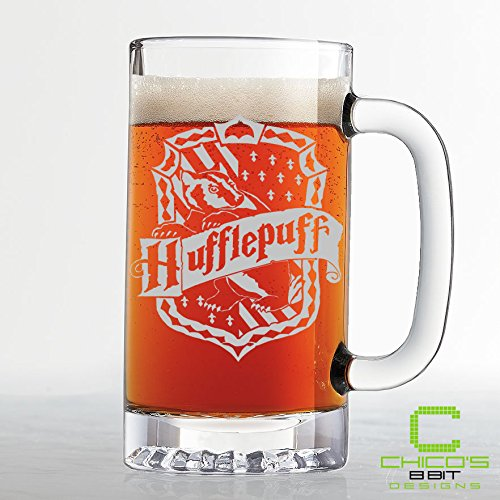 Harry Potter – Hufflepuff House Crest Beer Mug – Etched