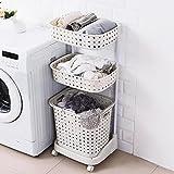 H&A Rolling Laundry Basket Heavy-Duty Sorting