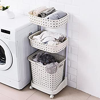 Amazon Com H Amp A Rolling Laundry Basket Heavy Duty Sorting