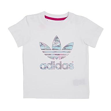 4a43435e80822 adidas Originals - Camiseta de Manga Corta - Moda - para niña Blanco  Blanco  Amazon.es  Ropa y accesorios