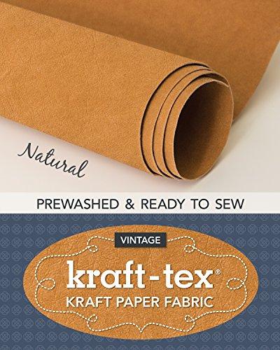 kraft-tex Roll Natural Prewashed & Ready to Sew: Kraft Paper Fabric, 18.5