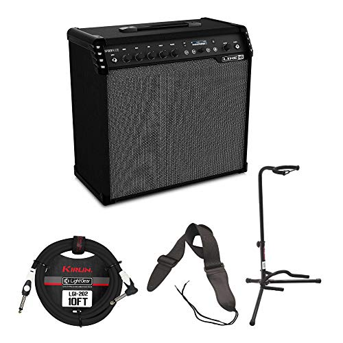 - Line 6 Spider V 120 Combo Guitar Amplifier (120 Watts) with Cable, Guitar Stand and Strap
