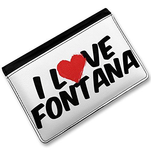 [RFID Passport Holder I Love Fontana, Cover Case / Wallet - Neonblond] (Fontana Cover)