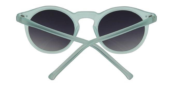 Gafas de sol Blue Hawaii de Calgary con montura semitransparente en azul cielo con lentes ahumadas cristal para chica, o unisex. Con funda incluida