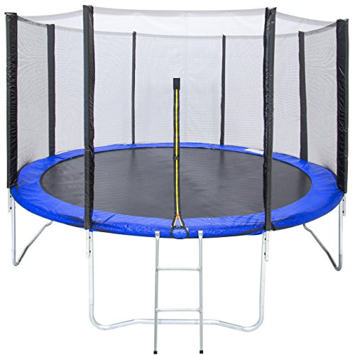 Best Choice Products 12ft Outdoor Round Jump Trampoline Set