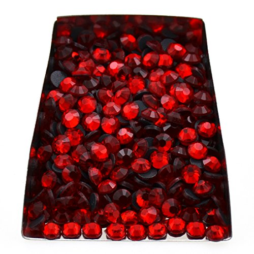 (1440pcs Hotfix Quality Crystal Rhinestones Flatback Nail Art Pick Color (Red, SS6))