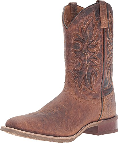 Laredo Mens Rust Durant 11in Leather Cowboy Boots Square Toe 11 D