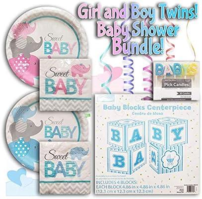 Amazon.com: Set de fiesta para bebé de niño/niña, incluye 1 ...