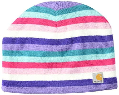 (Carhartt Youth Acrylic Watch Hat, Pink Peacock Multi Stripe, Child)